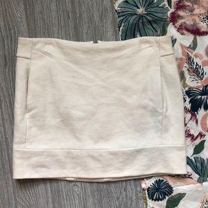J. Crew White Mini Wool Skirt